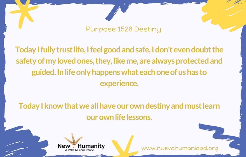 Purpose 1528 Destiny