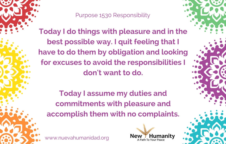 Purpose 1530 Responsibility