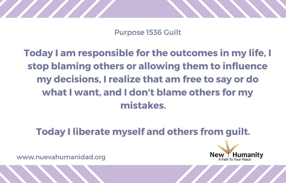 Purpose 1536 Guilt
