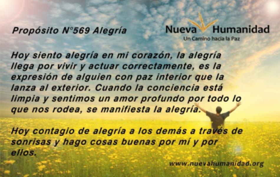 Nueva Humanidad Proposito 569 Alegria