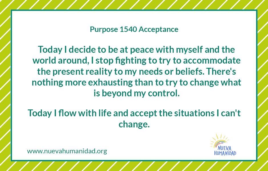 Purpose 1540 Acceptance