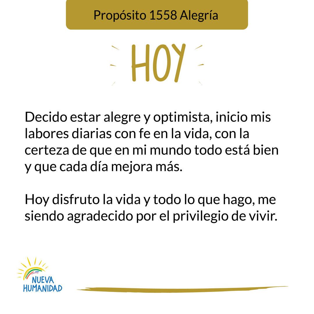 Propósito 1558 Alegría