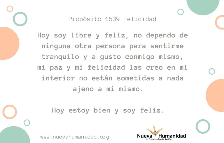 Propósito 1539 Felicidad