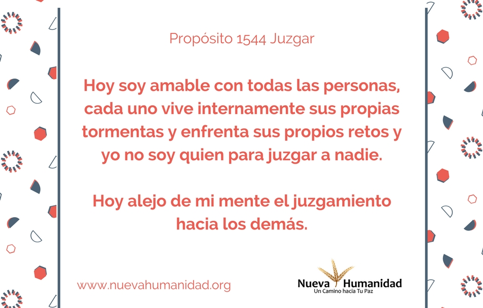 Propósito 1544 Juzgar