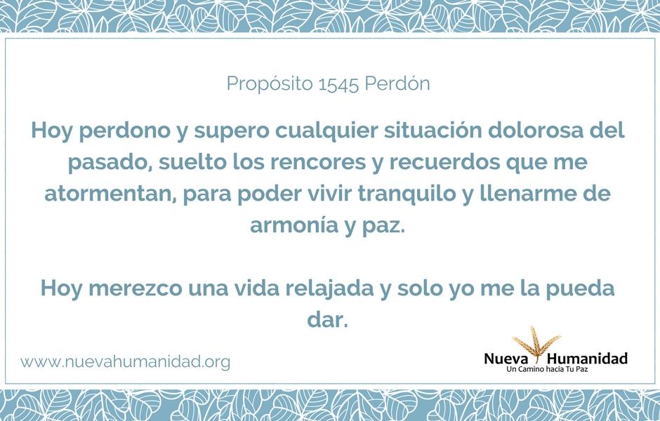 Propósito 1545 Perdón