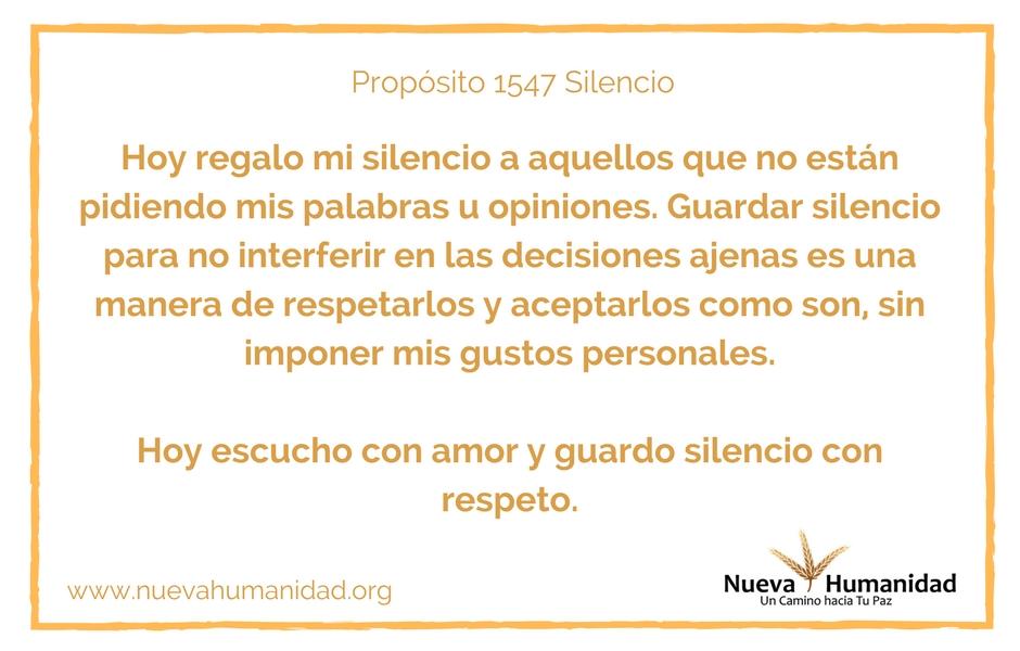 Propósito 1547 Silencio