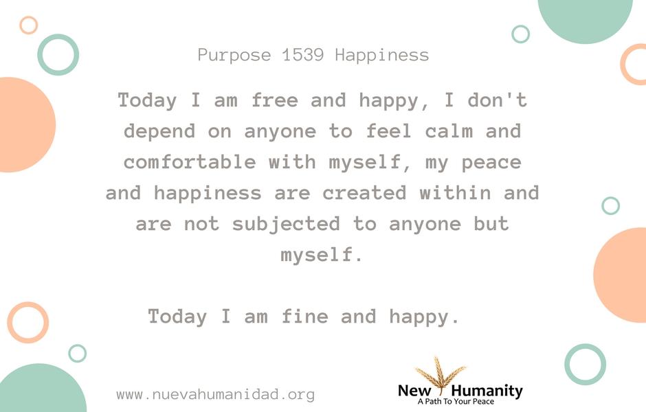 Purpose 1539 Happiness