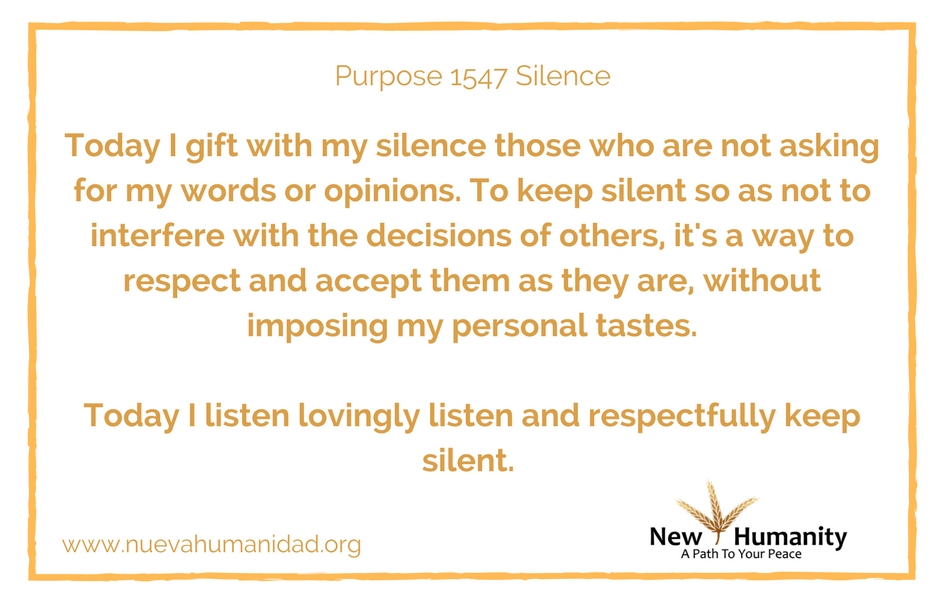 Purpose 1547 Silence