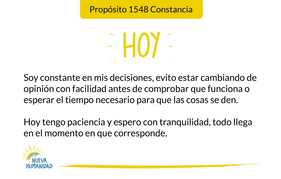 Propósito 1548 Constancia