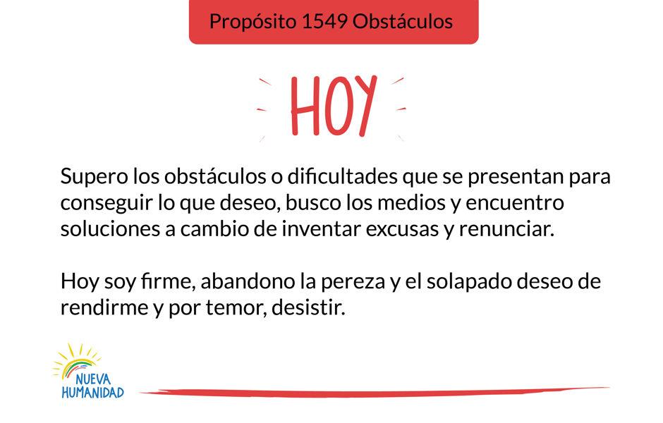 Propósito 1549 Obstáculos