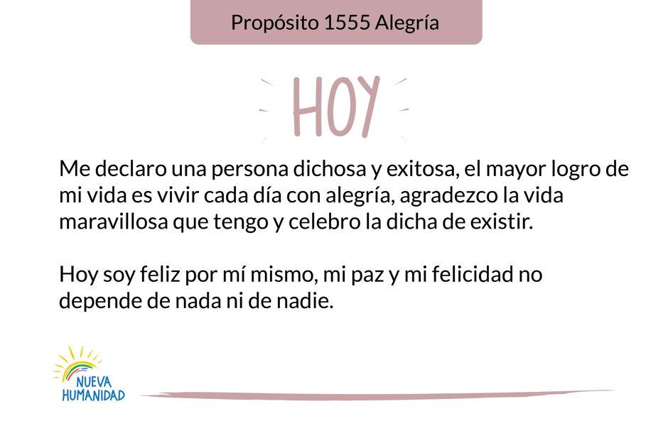 Propósito 1555 Alegría