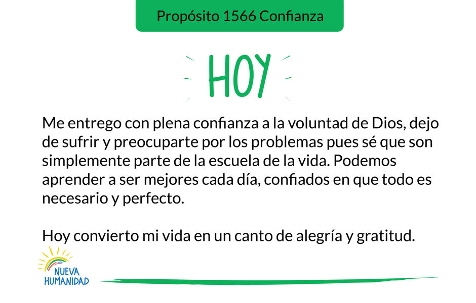 Propósito 1566 Confianza