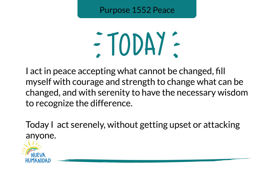 Purpose 1552 Peace