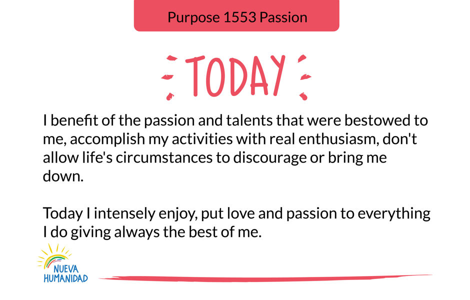Purpose 1553 Passion