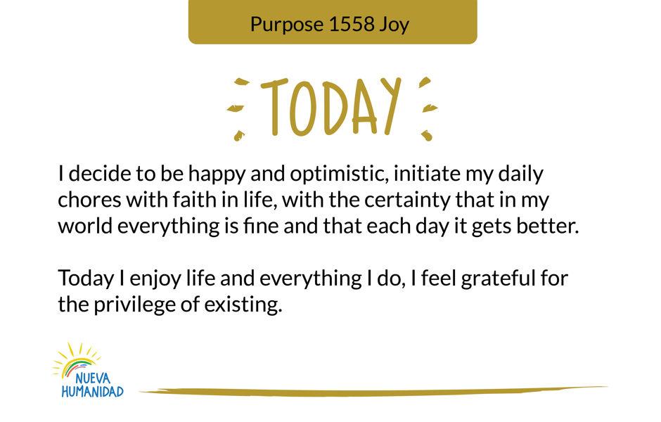 Purpose 1558 Joy