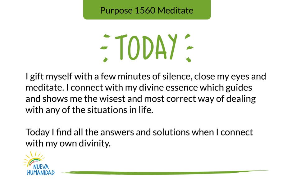 Purpose 1560 Meditate