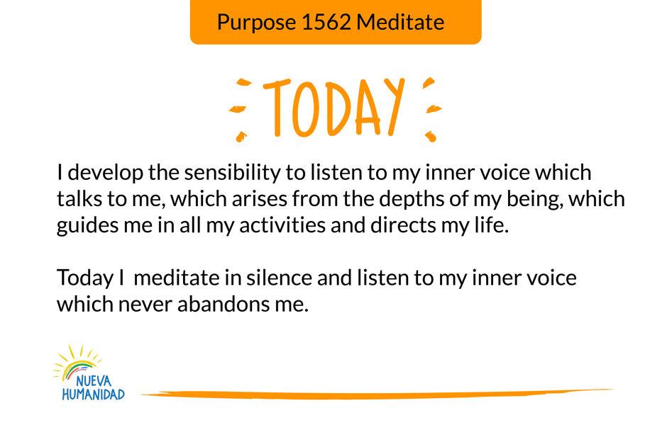 Purpose 1562 Meditate
