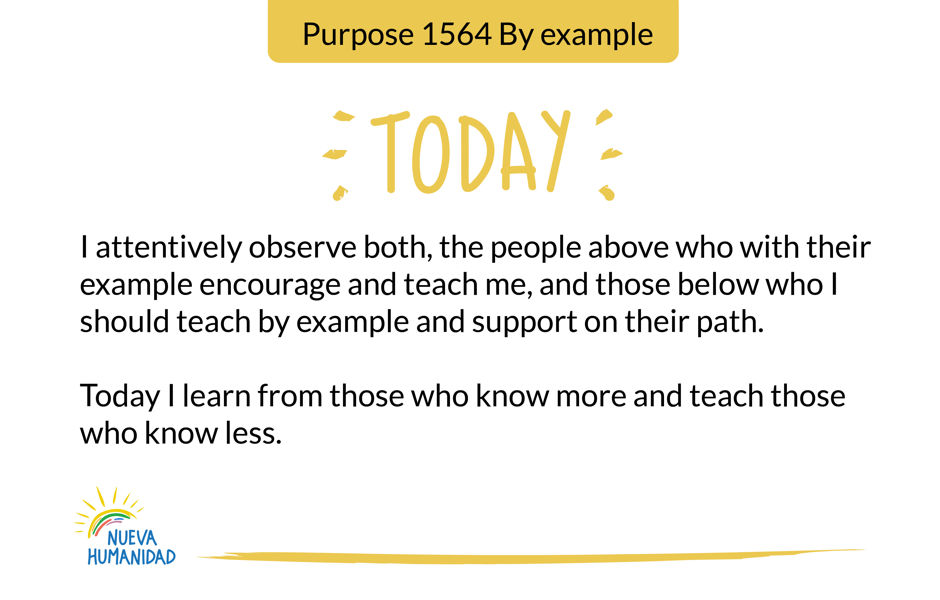 Purpose 1564 By example