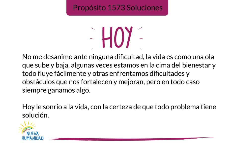 Propósito 1573 Soluciones