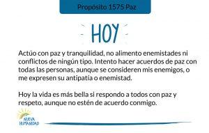 Propósito 1575 Paz