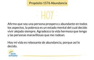 Propósito 1576 Abundancia