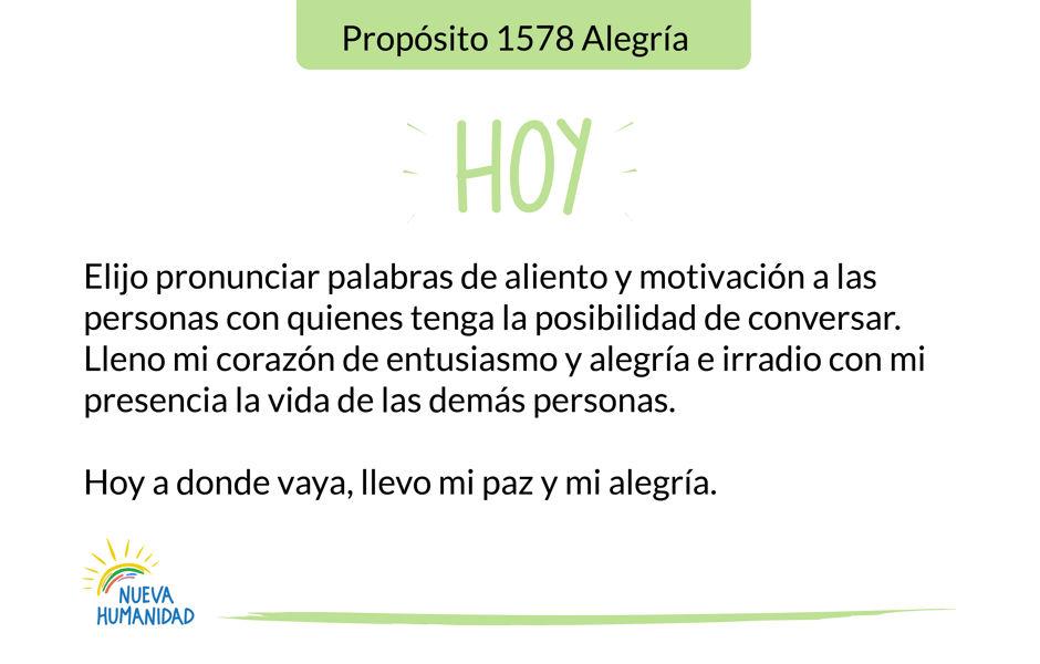 Propósito 1578 Alegría