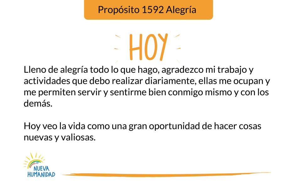 Propósito 1592 Alegría