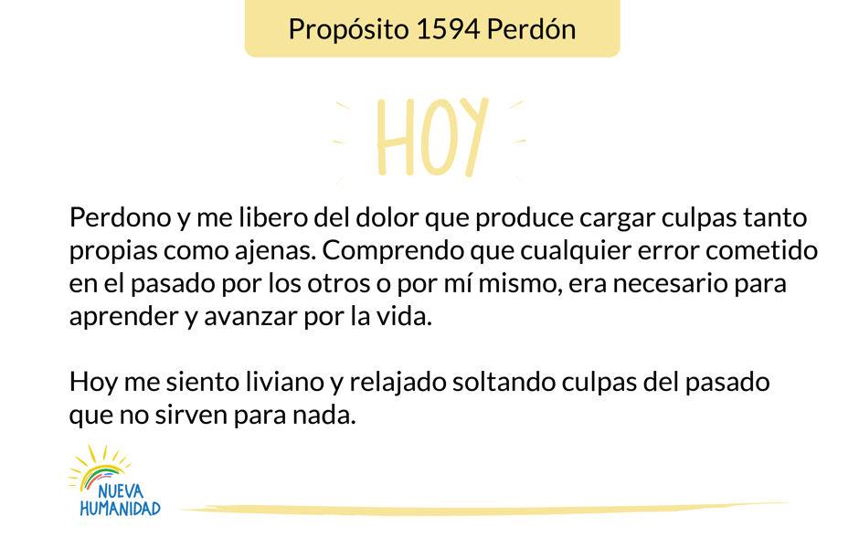 Propósito 1594 Perdón