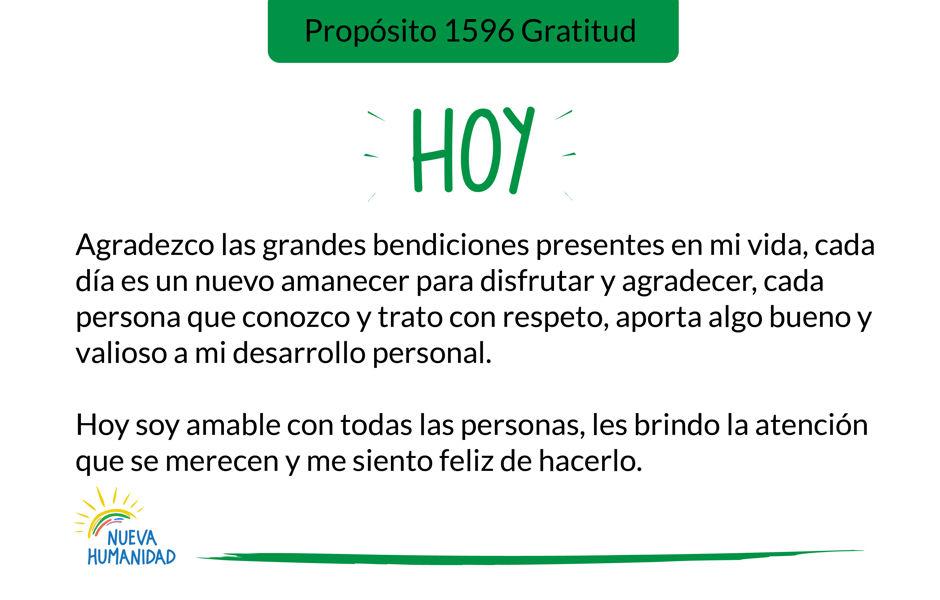 Propósito 1596 Gratitud