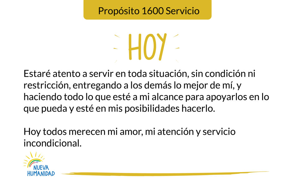 Propósito 1600 Servicio