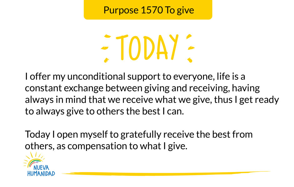Purpose 1570 To give