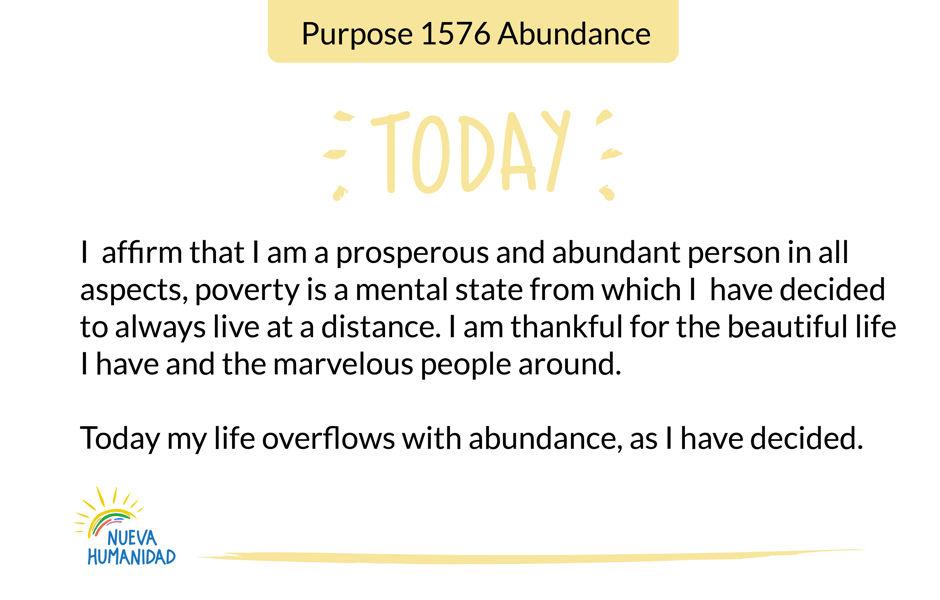 Purpose 1576 Abundance