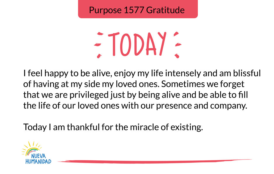 Purpose 1577 Gratitude