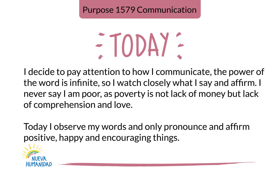 Purpose 1579 Communication