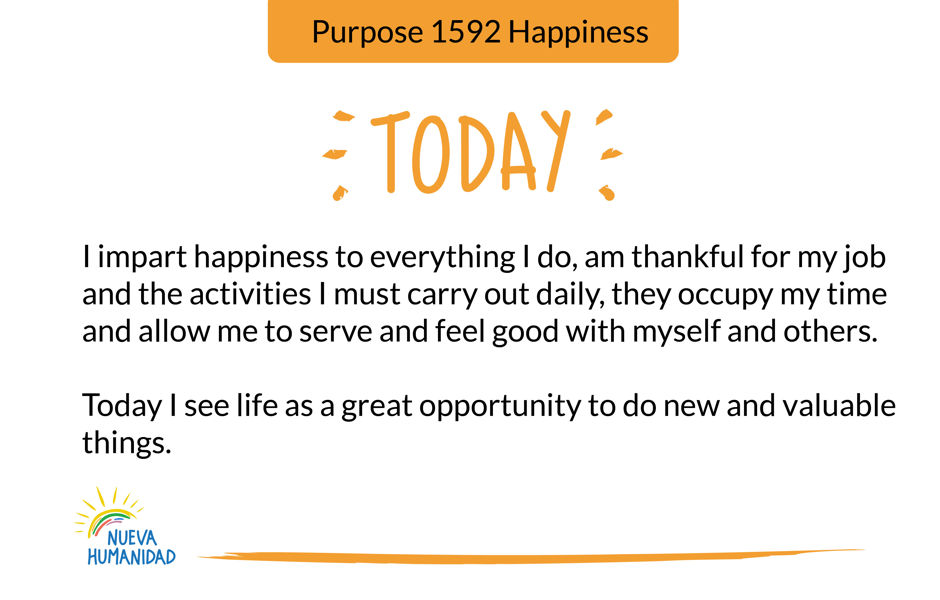 Purpose 1592 Happiness