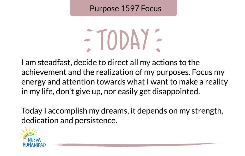 Purpose 1597 Focus