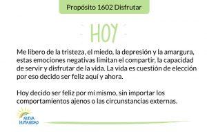Propósito 1602 Disfrutar