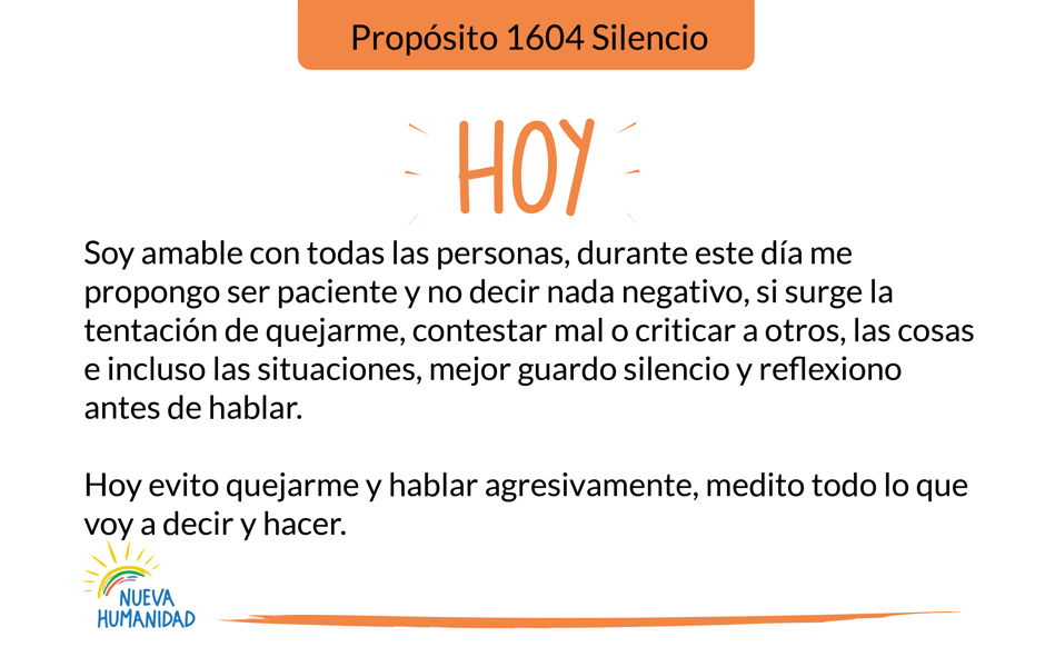 Propósito 1604 Silencio