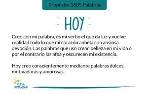 Propósito 1605 Palabras