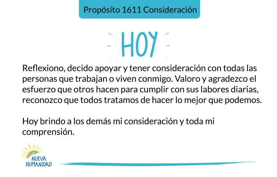 Propósito 1611 Consideración
