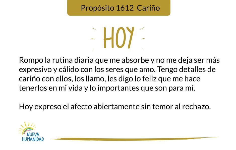 Propósito 1612 Cariño