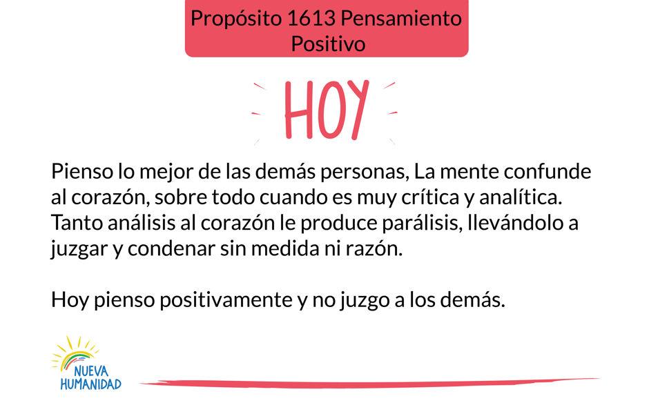 Propósito 1613 Pensamiento positivo