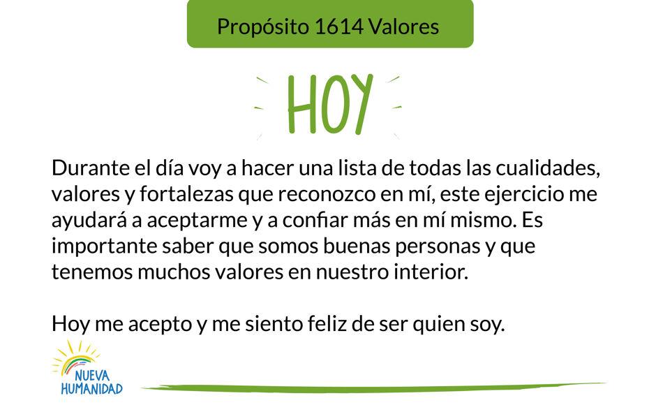 Propósito 1614 Valores