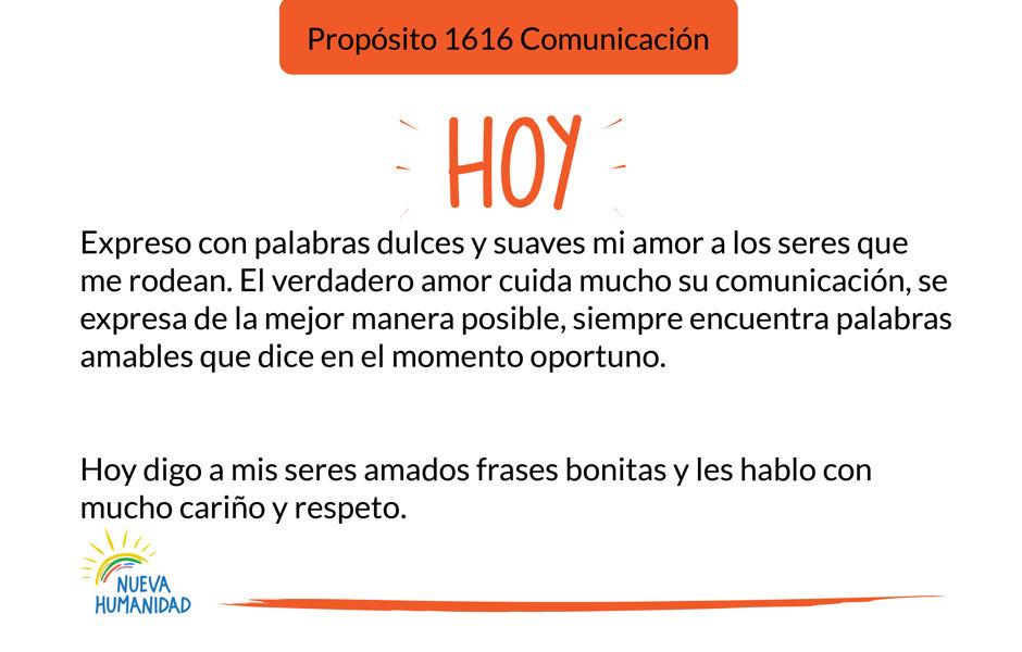 Propósito 1616 Comunicación