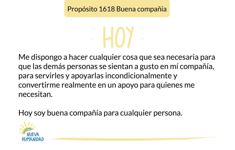 Propósito 1618 Buena compañía
