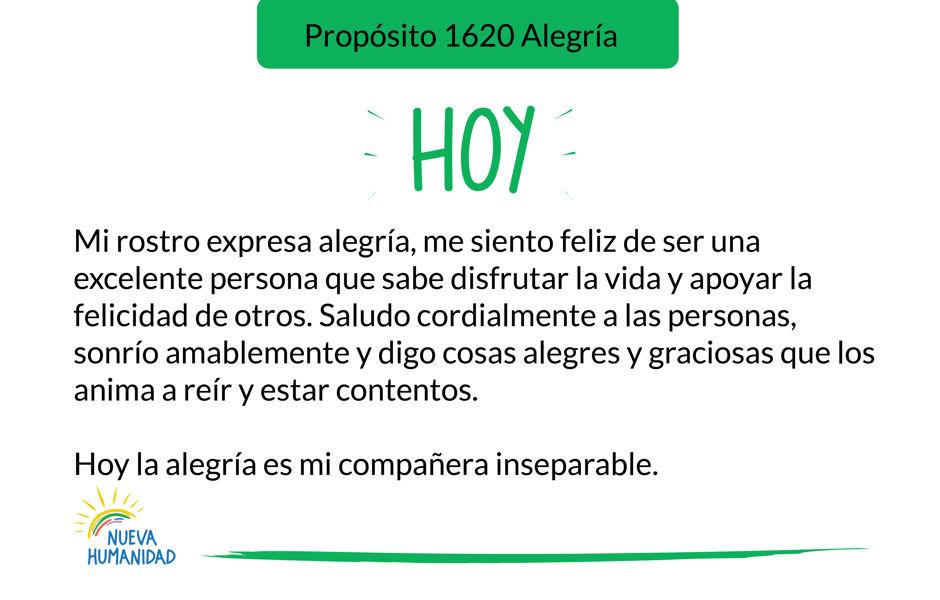 Propósito 1620 Alegría