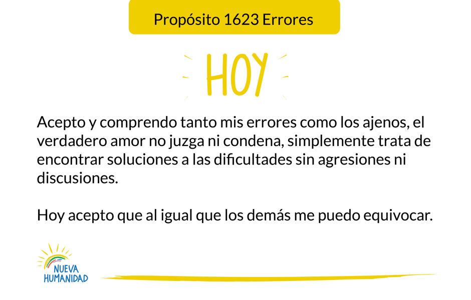 Propósito 1623 Errores