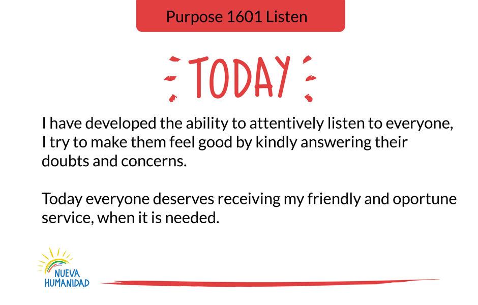 Purpose 1601 Listen