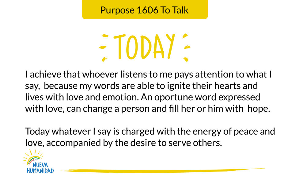 Purpose 1606 To Talk