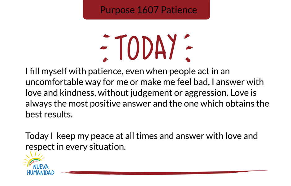 Purpose 1607 Patience